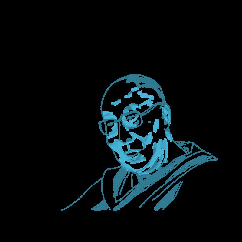 VSea- dalai lama - ingrid shared a sketch with you 737